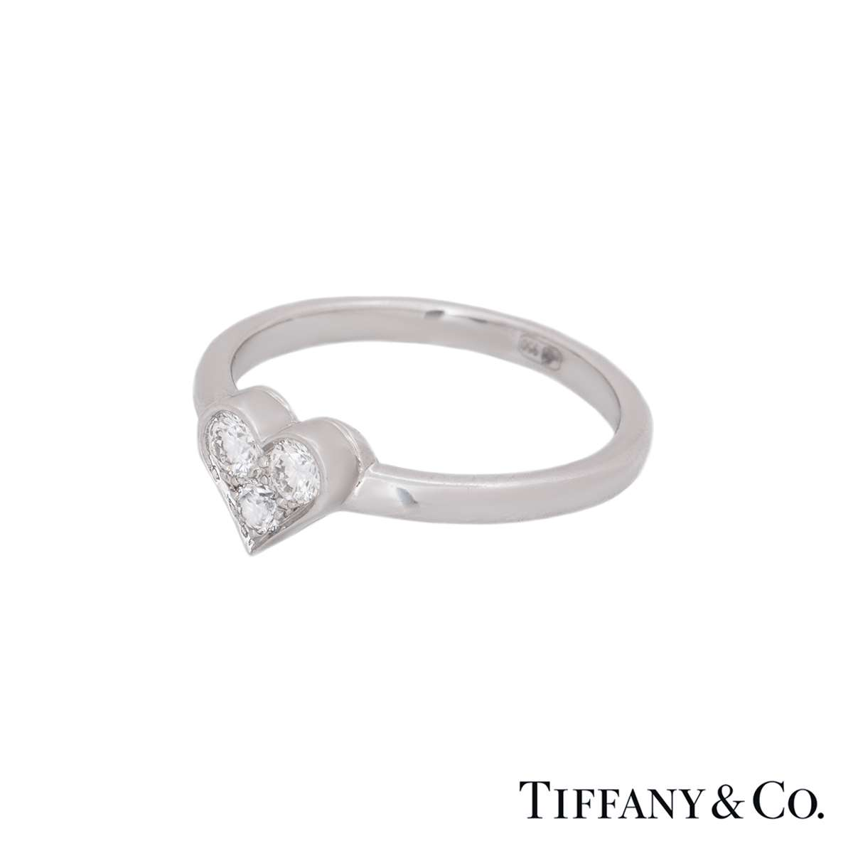 Tiffany & Co. Platinum Hearts Diamond Ring